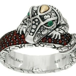 Authentic John Hardy Jai Crocodile Ring